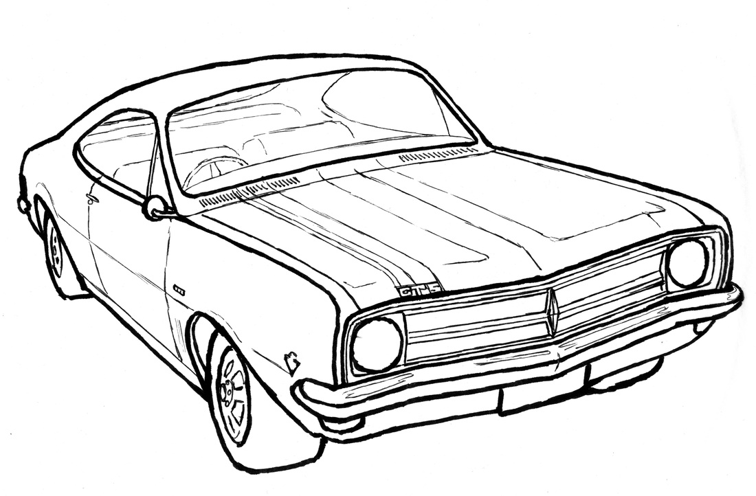 car lovers clinton walker 1970 Chevy Logo i did this drawing of my dream monaro to ac pany this piece